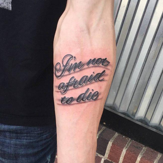 Script Tattoo 2