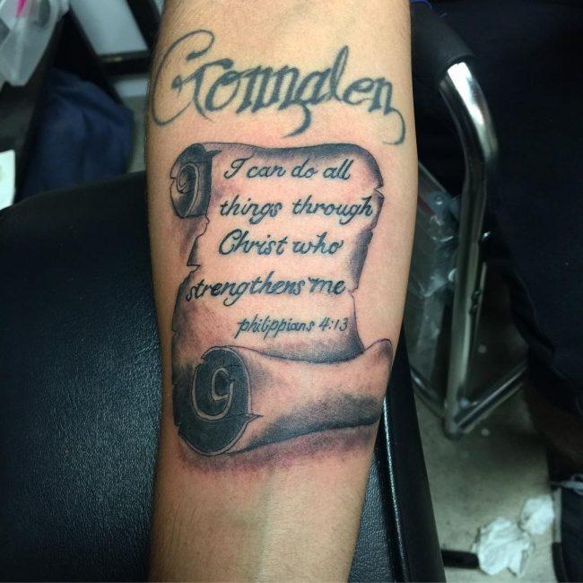 Script Tattoo 20