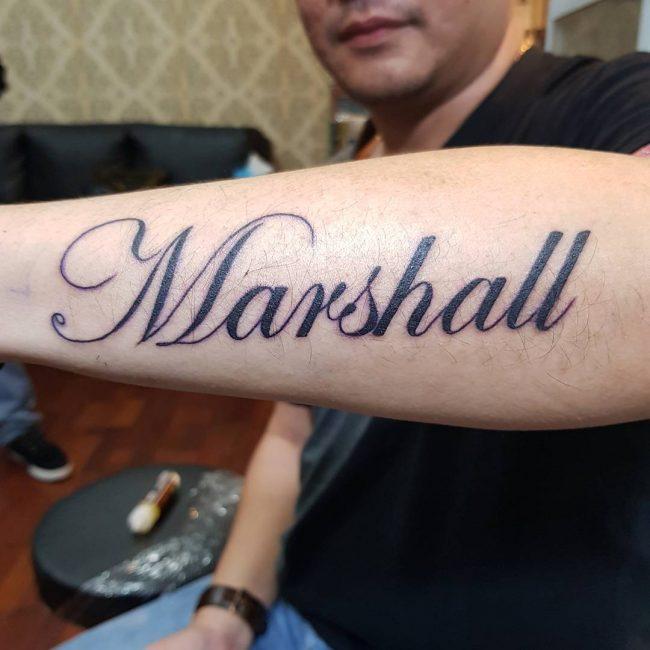 Script Tattoo 34