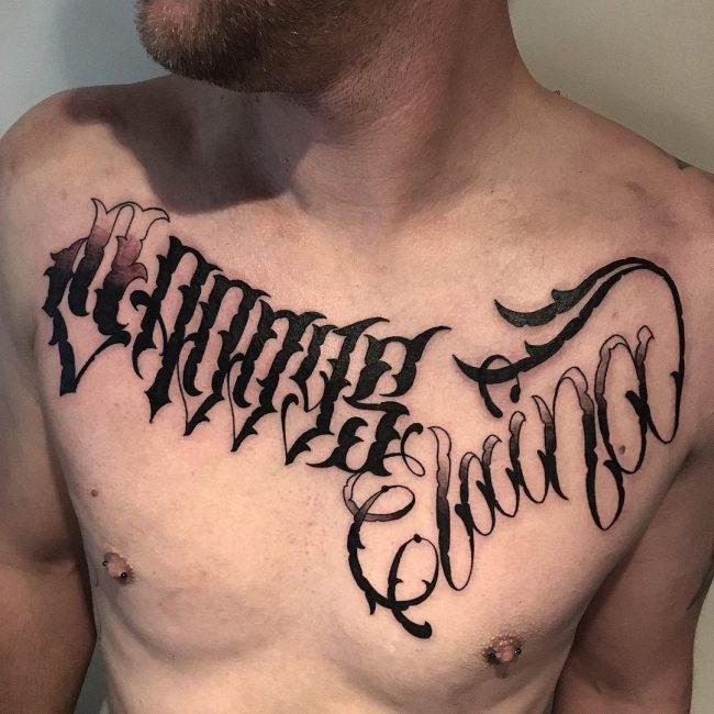 Script Tattoo 40