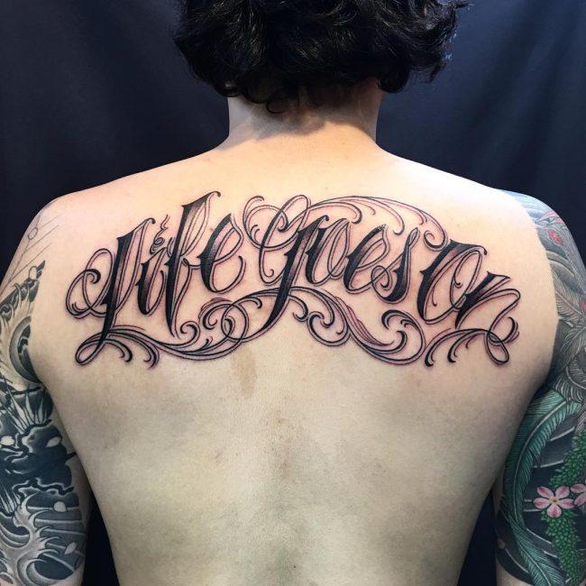 Script Tattoo 43