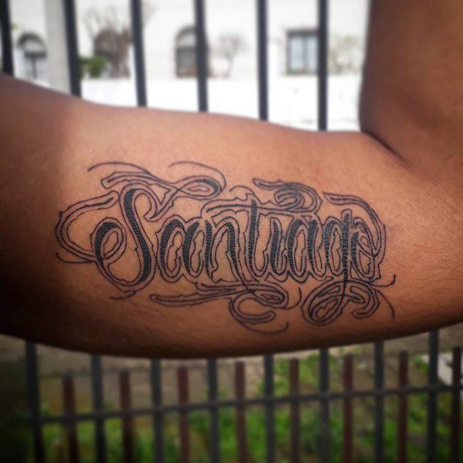 Script Tattoo 44