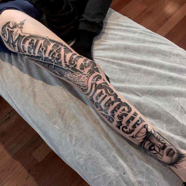 Script Tattoo 49