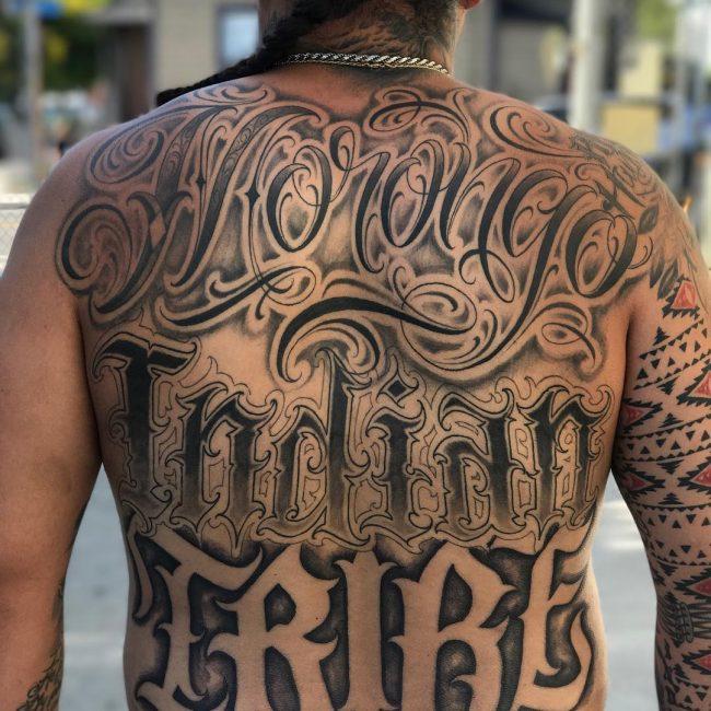 Script Tattoo 54