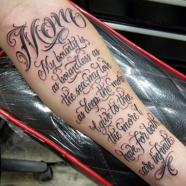 Script Tattoo 65