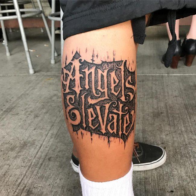 Script Tattoo 74