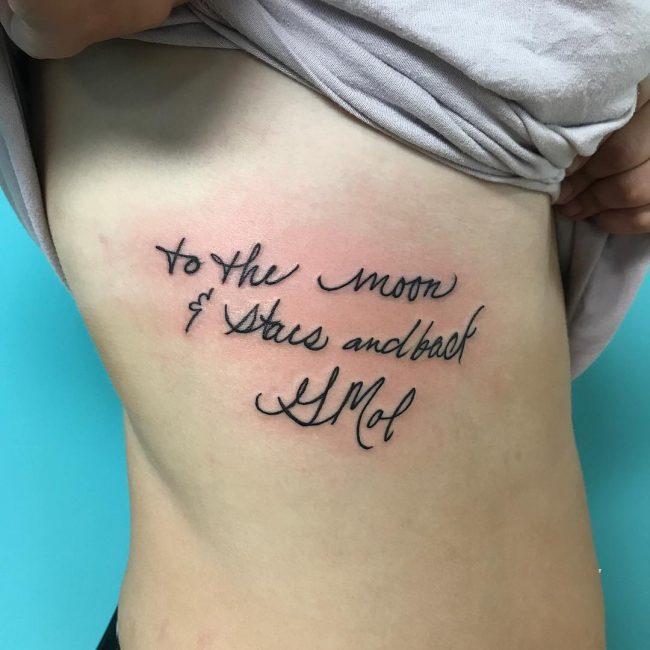 Script Tattoo 77