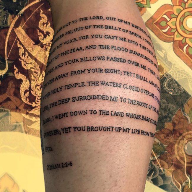 Script Tattoo 8