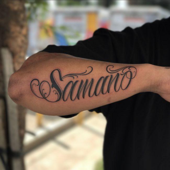 Script Tattoo 85