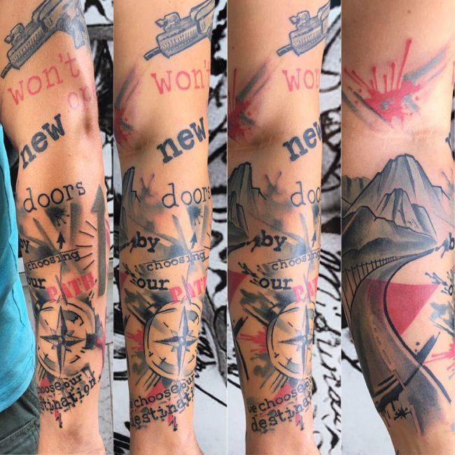 Trash Polka Tattoo 14
