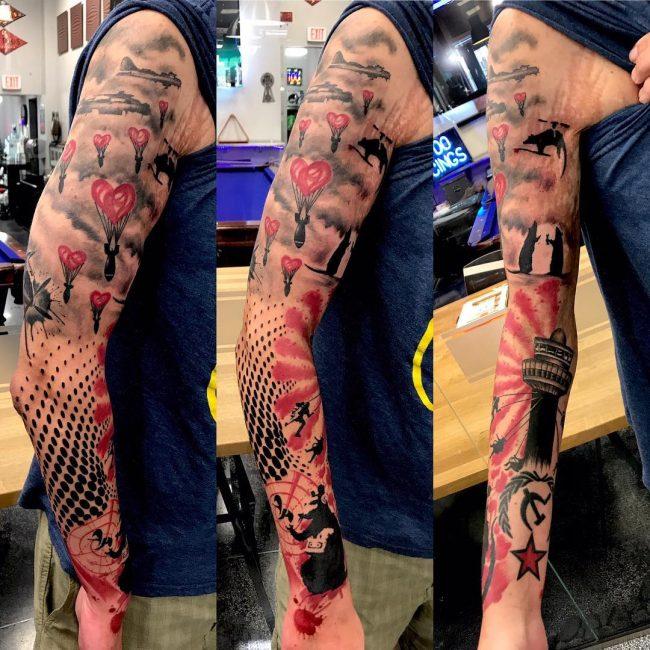 Trash Polka Tattoo 43