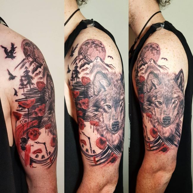 Trash Polka Tattoo 44