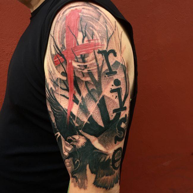 Trash Polka Tattoo 48