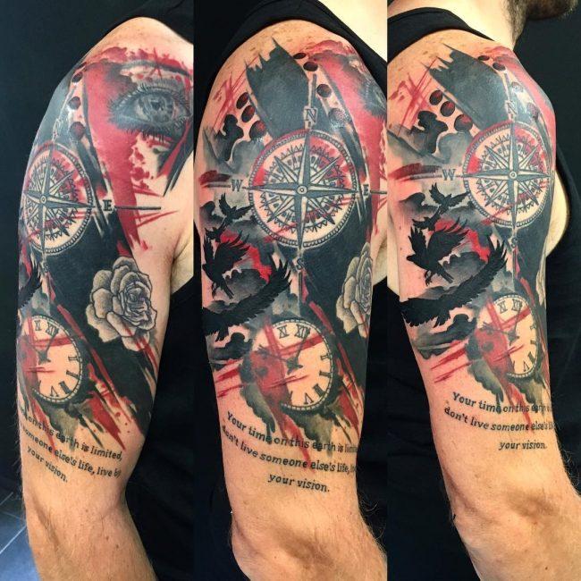 Trash Polka Tattoo 50