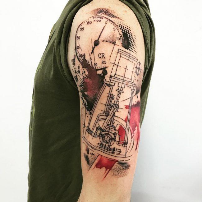 Trash Polka Tattoo 56