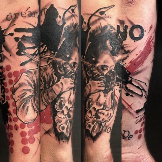 Trash Polka Tattoo 60