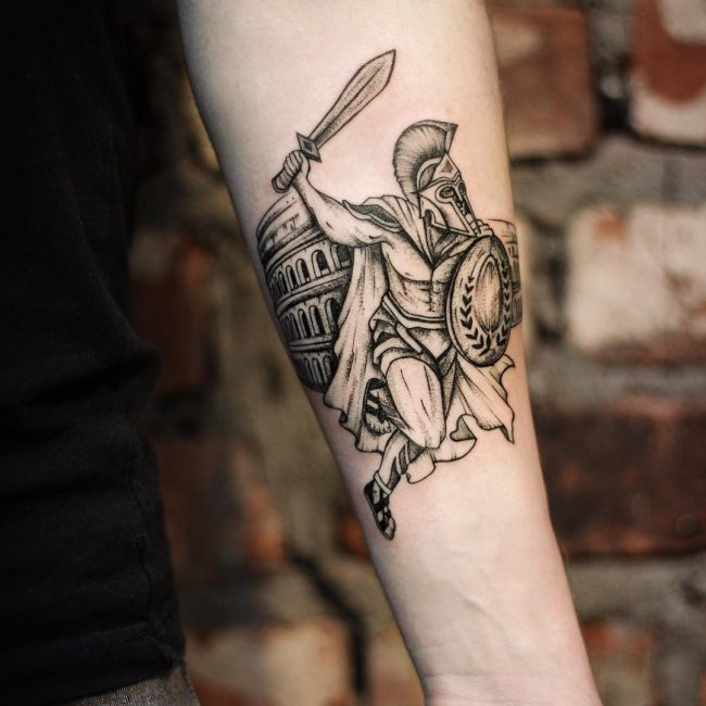 Warrior Tattoo 105