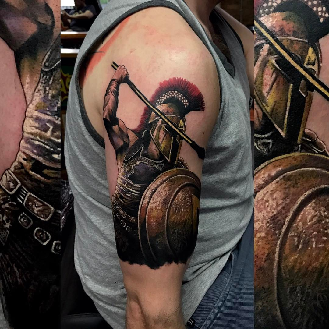 Shoulder tattoos on guys look really cool and amazing They are really attractive on a man and help add appeal to your personality Check out the gallery!