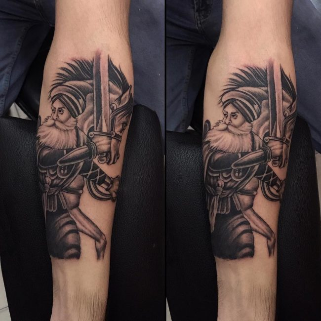 Warrior Tattoo 36