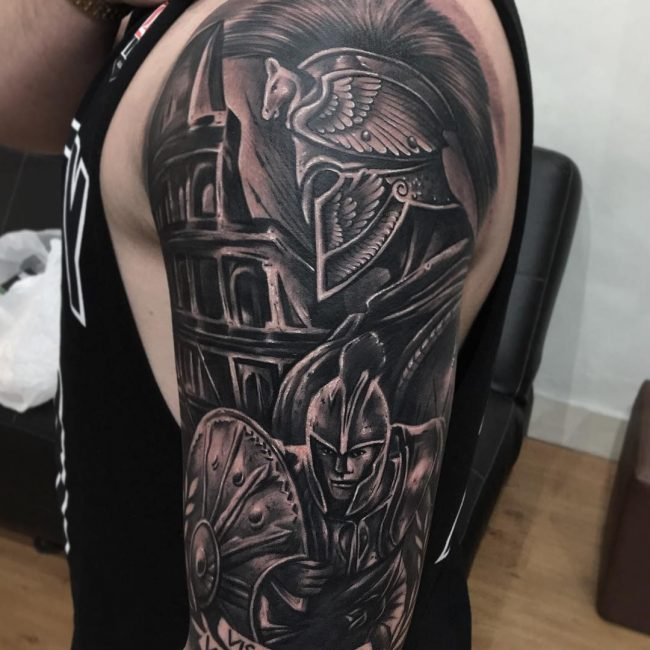 Warrior Tattoo 78