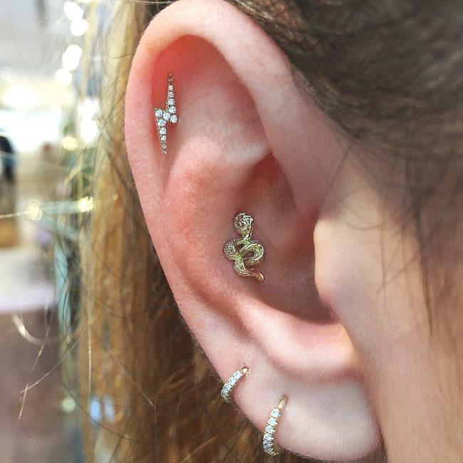 Conch Piercing 16