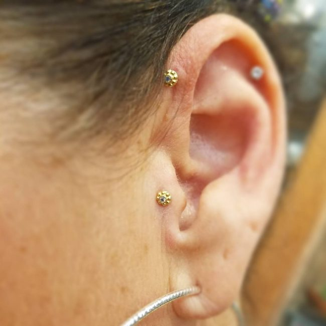 Forward Helix Piercing 11