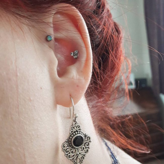 Forward Helix Piercing 13