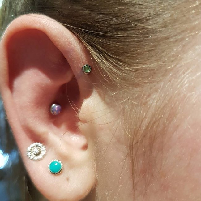 Forward Helix Piercing 14