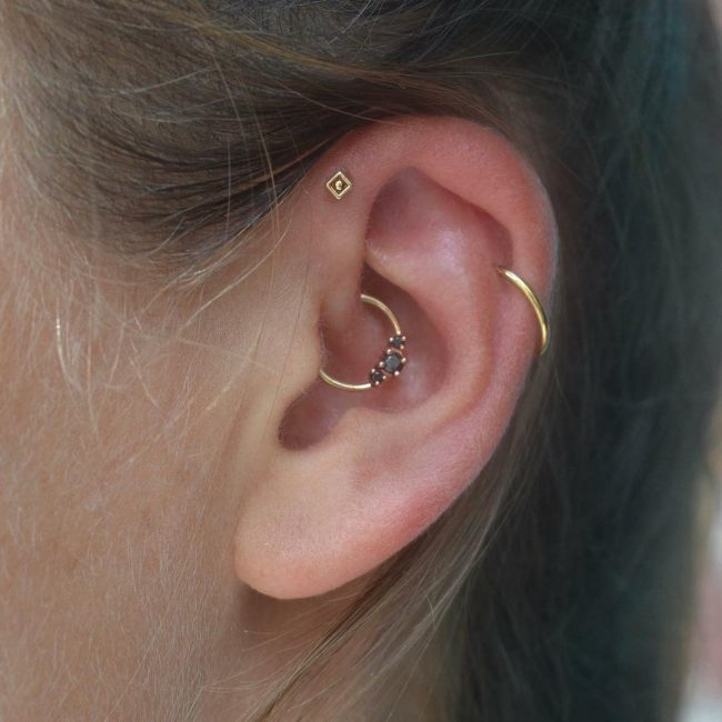Forward Helix Piercing 16