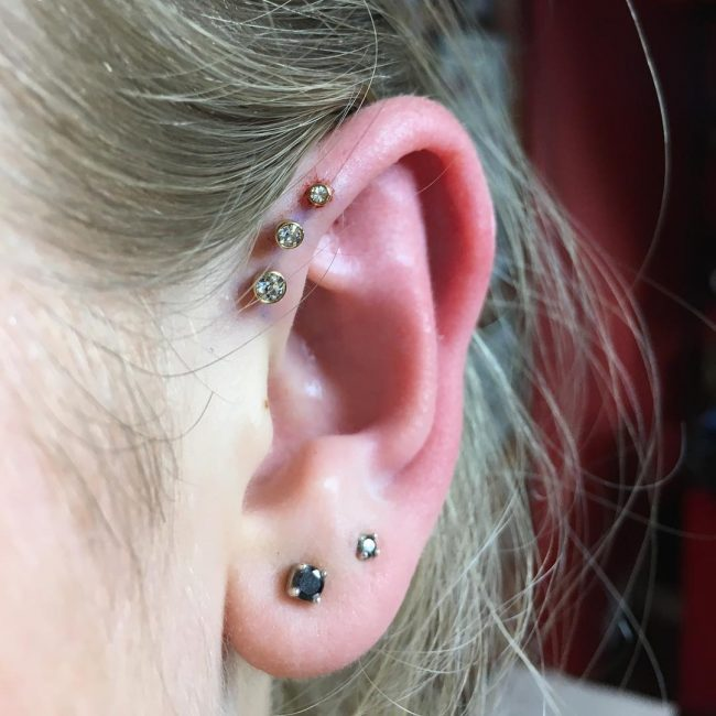 Forward Helix Piercing 17