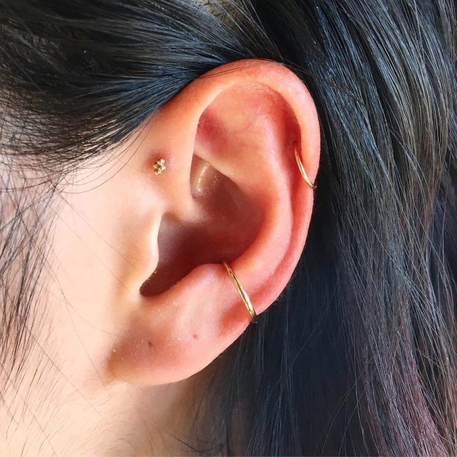 Forward Helix Piercing 18