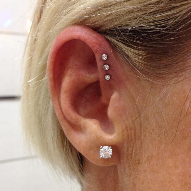Forward Helix Piercing 2