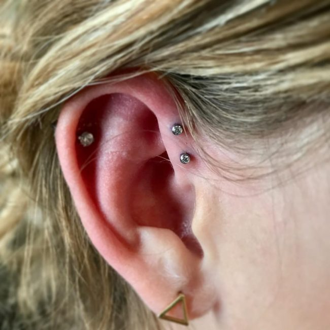 Forward Helix Piercing 23