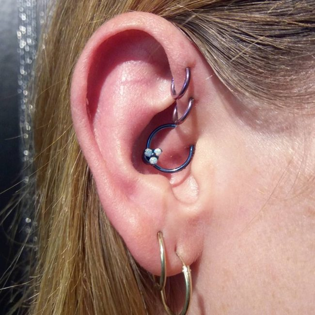 Forward Helix Piercing 25