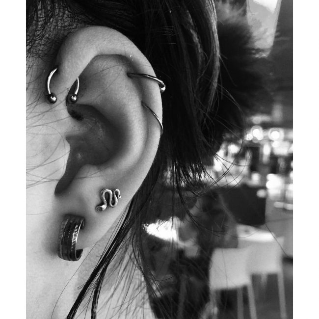 Forward Helix Piercing 26