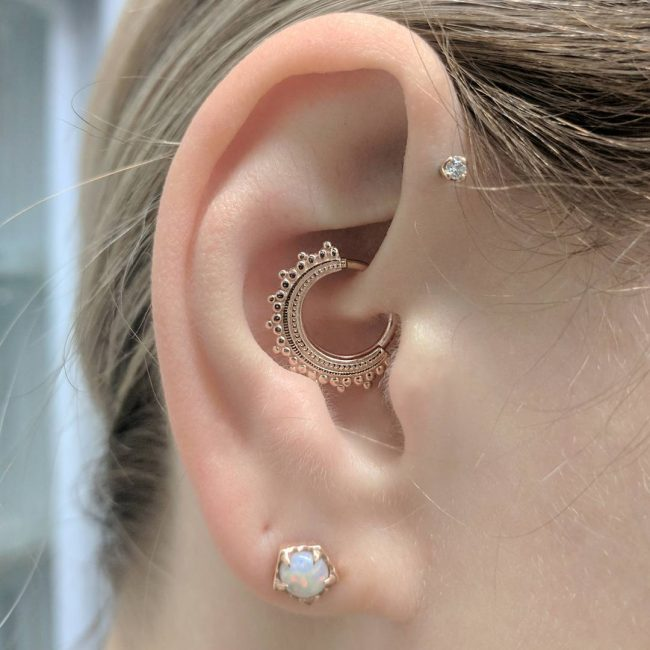 Forward Helix Piercing 29