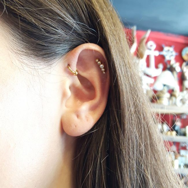 Forward Helix Piercing 33