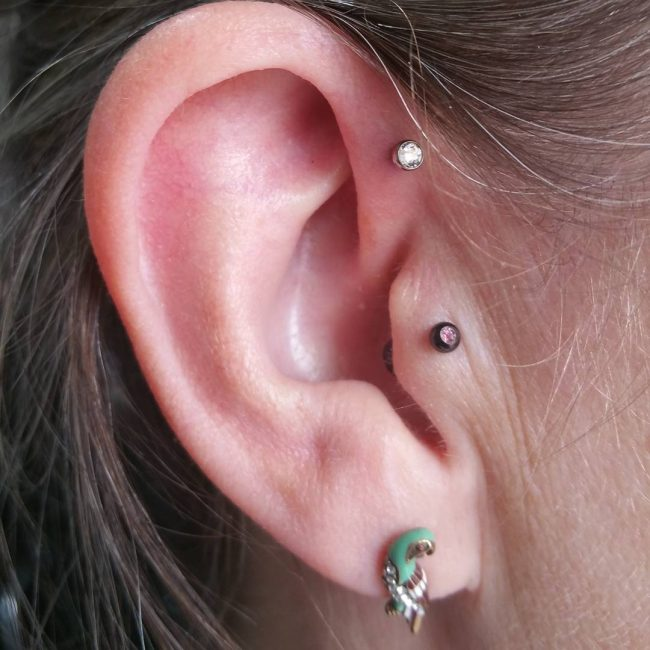 Forward Helix Piercing 41