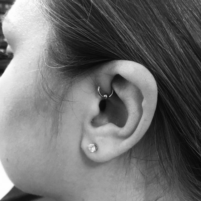 Forward Helix Piercing 42