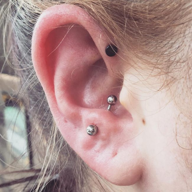 Forward Helix Piercing 5