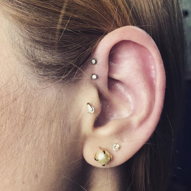 Forward Helix Piercing 52