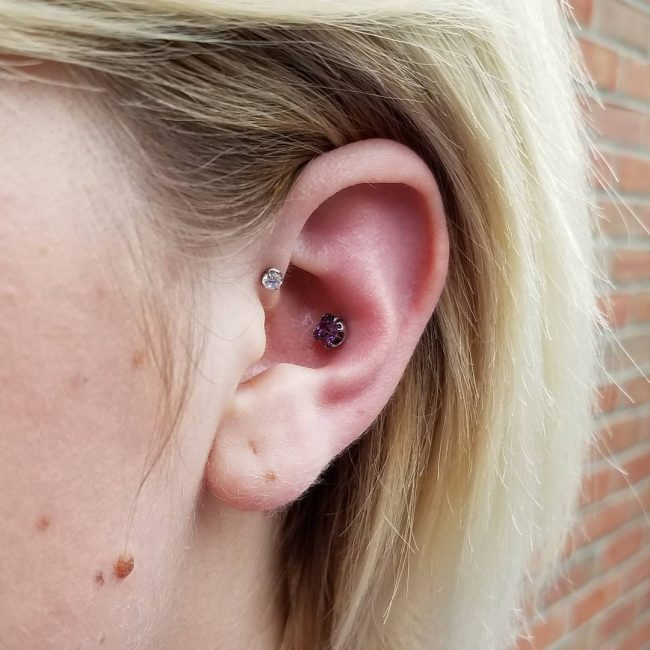 Forward Helix Piercing 53
