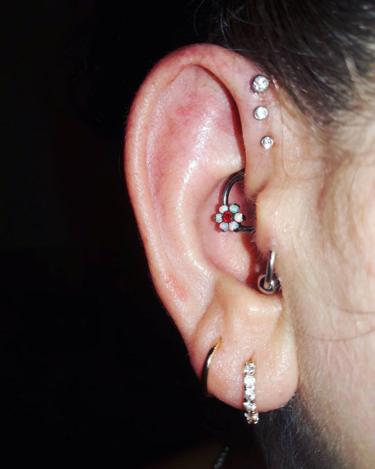Forward Helix Piercing 7