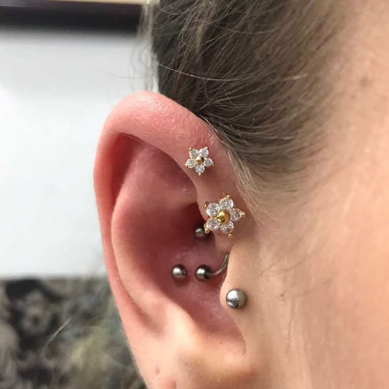 Forward Helix Piercing 9