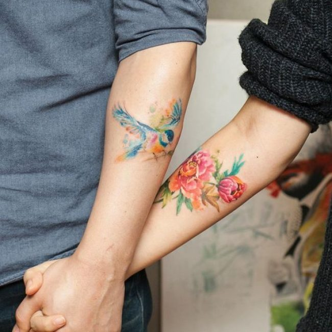 His and Hers Tattoos 105