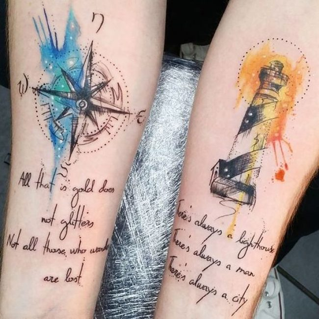 His and Hers Tattoos 106