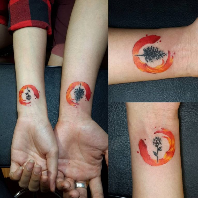 His and Hers Tattoos 119