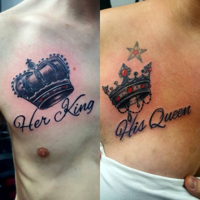 His and Hers Tattoos 48