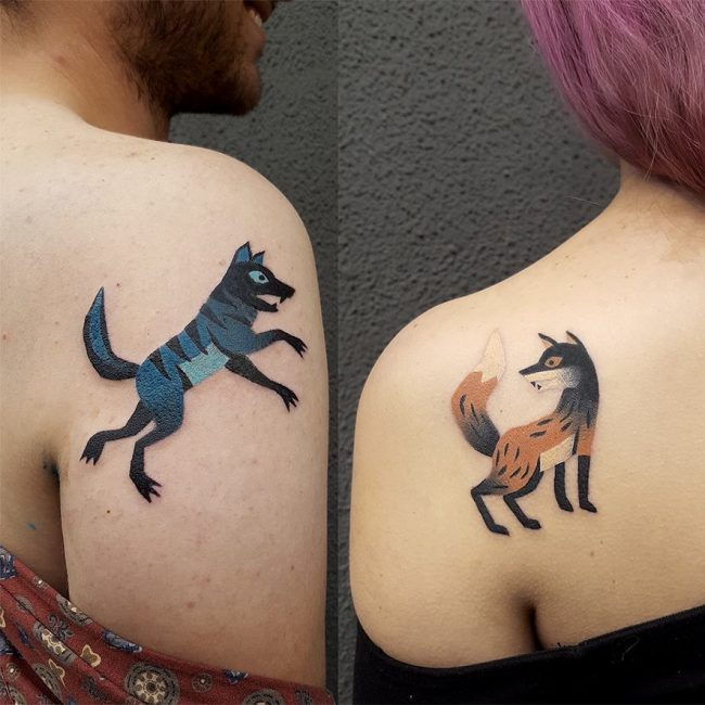His and Hers Tattoos 51