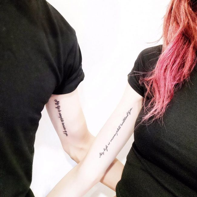 His and Hers Tattoos 61